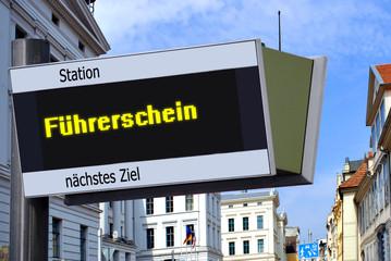 Anzeigetafel 7 - Führerschein