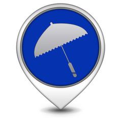 Umbrella pointer icon on white background