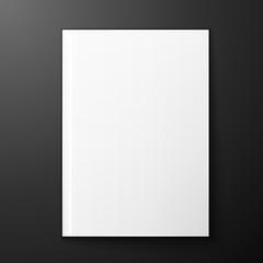 magazine blank on black background