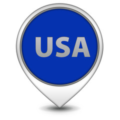 Usa pointer icon on white background