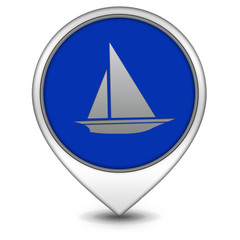Boat pointer icon on white background