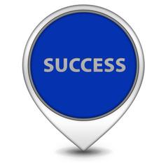 Success pointer icon on white background