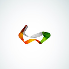 Abstract shape logo design
