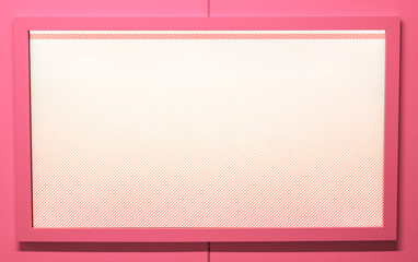 Blank pink tv screen. Place for your text.