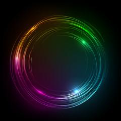 neon circle banner