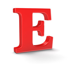 Letter E (clipping path included)