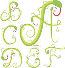 snake alphabet color