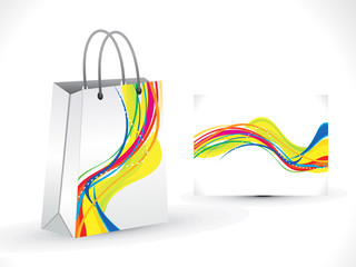 abstract rainbow shopping bag