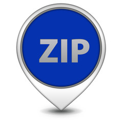 ZIP pointer icon on white background