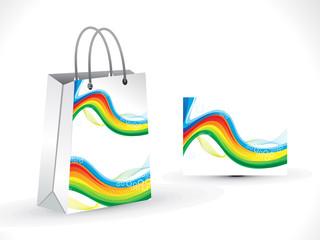 abstract  colorful  rainbow shopping bag
