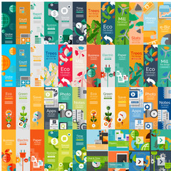 Mega collection of flat web infographic concepts