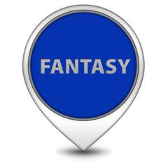 Fantasy pointer icon on white background