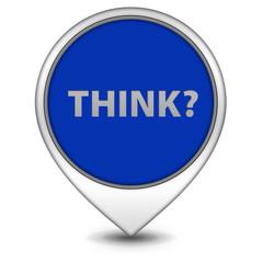 Think pointer icon on white background