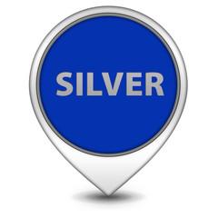 Silver pointer icon on white background