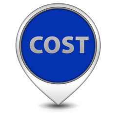 Cost pointer icon on white background
