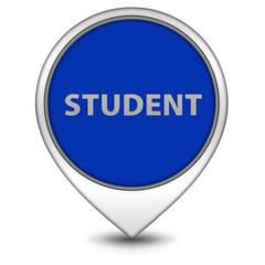studnet pointer icon on white background