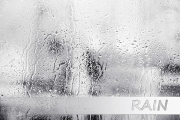Raindrops on window glass