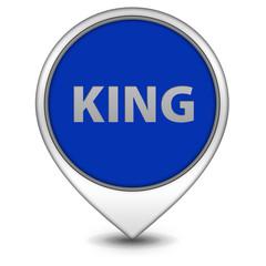 King pointer icon on white background