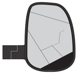 Smashed Truck Side Mirror