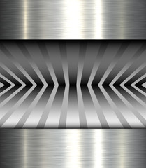 Background metal texture, 3D vector illustration.