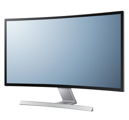 Modern monitor with curved screen