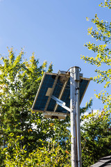 Solar Panel on Wood Pole