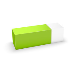 Package white and green box design