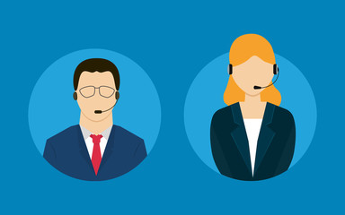 Technical support flat illustration
