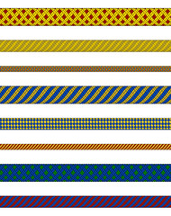 Colorful ropes collection