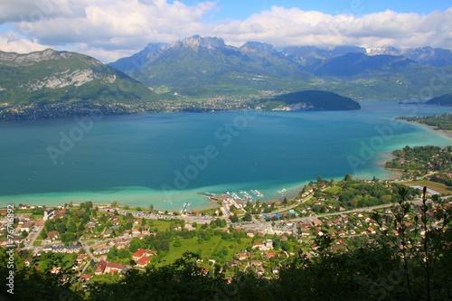 Canvas Alpen Le lac d'Annecy, depuis le Semnoz