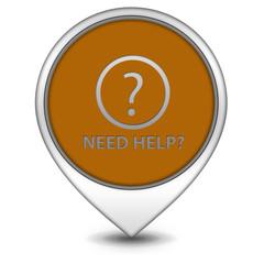 Help pointer icon on white background