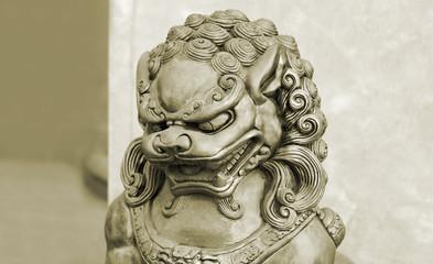 Singha stone statue