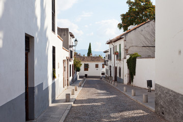 Old street in the Arab quarter, Granada, Spain