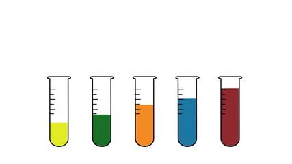 2D Lab tubes animation Scalar