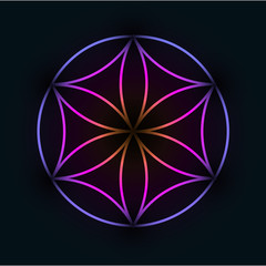 Glowing Geometrical Ornament