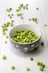 wasabi peas in a bowl