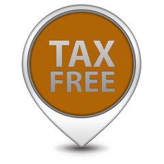 Tax free pointer icon on white background