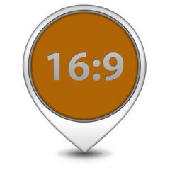 16:9 pointer icon on white background