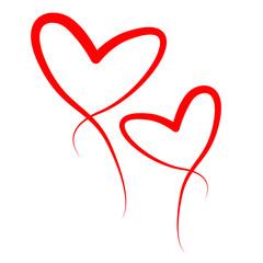 Kompozycja dwóch serc