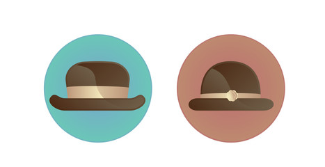 Man and woman symbol icon with hat