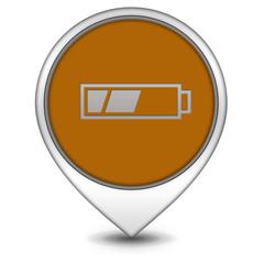 battery pointer icon on white background