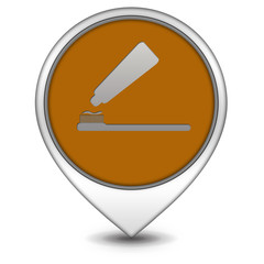 Tooth brush pointer icon on white background