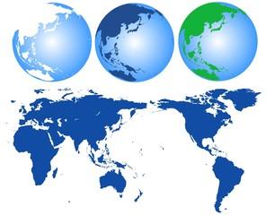 世界と地球