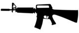 M16 machine gun silhouette
