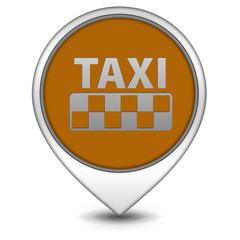 Taxi pointer icon on white background