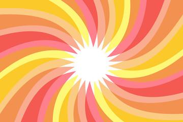 背景,素材,壁紙,渦巻き,うず巻き,渦状,螺旋状,らせん状,スパイラル,放射状,カラフル,透明感,光沢,蛍光色,旋風,竜巻,太陽