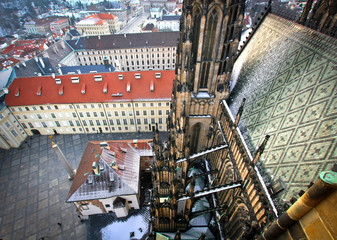 From the top of St. Vitus Cathedral, Prague