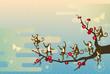 踊るサルと梅の木