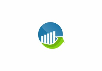 chart arrow finance growth template icon