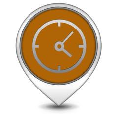 Clock pointer icon on white background